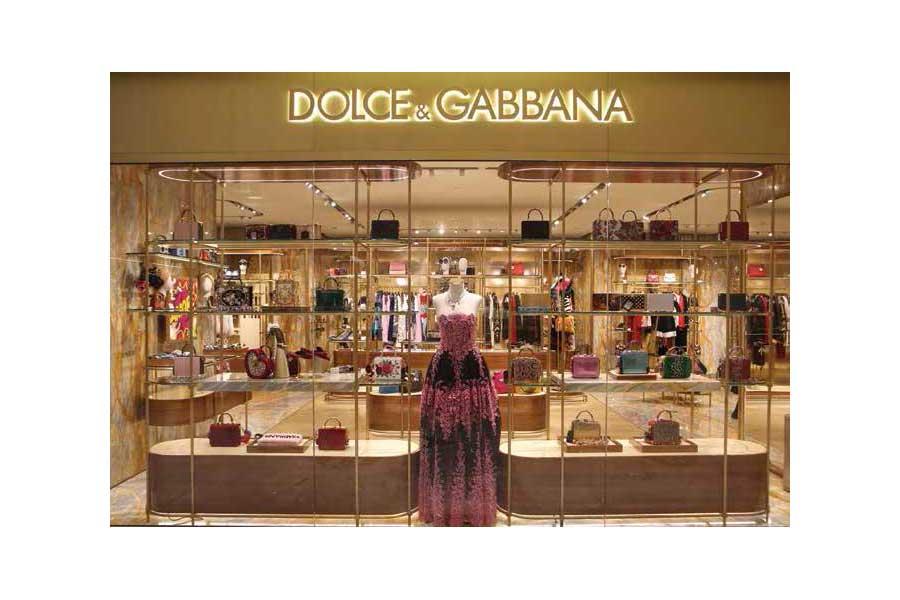 Tienda de Dolce & Gabbana en China, donde tuvo que cancelarse una pasarela de la compañía tras escándalo de Stefano Gabbana en Instagram.