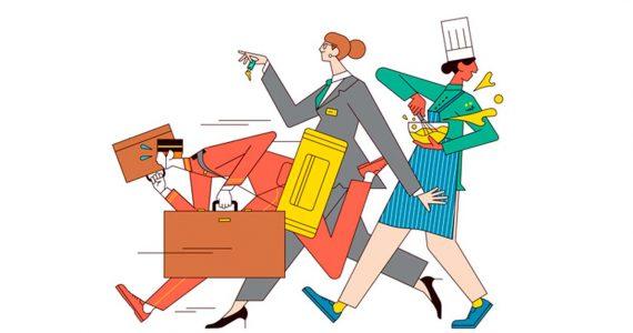 Ranking Fortune | Las 100 mejores compañías para trabajar | Ilustración: Sam Peet