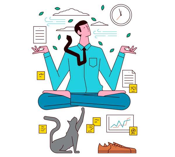 En Salesforce el bienestar es prioridad | Ilustración: Sam Peet