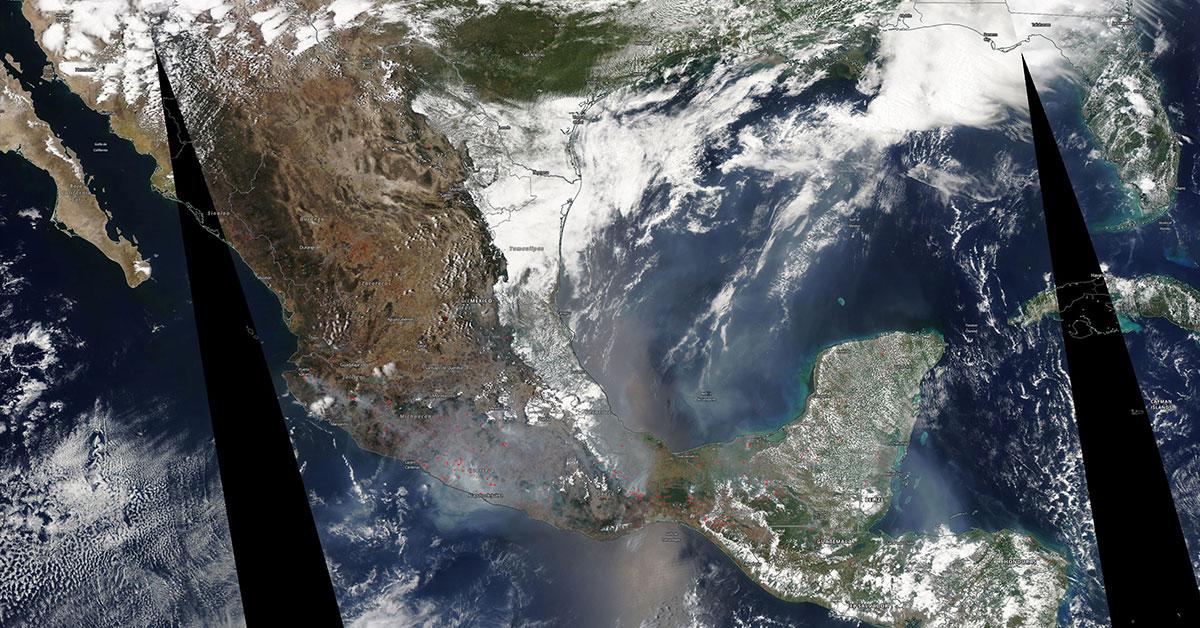 ¿Qué llevo al Valle de México a entrar en contingencia extrema? | Foto: NASA