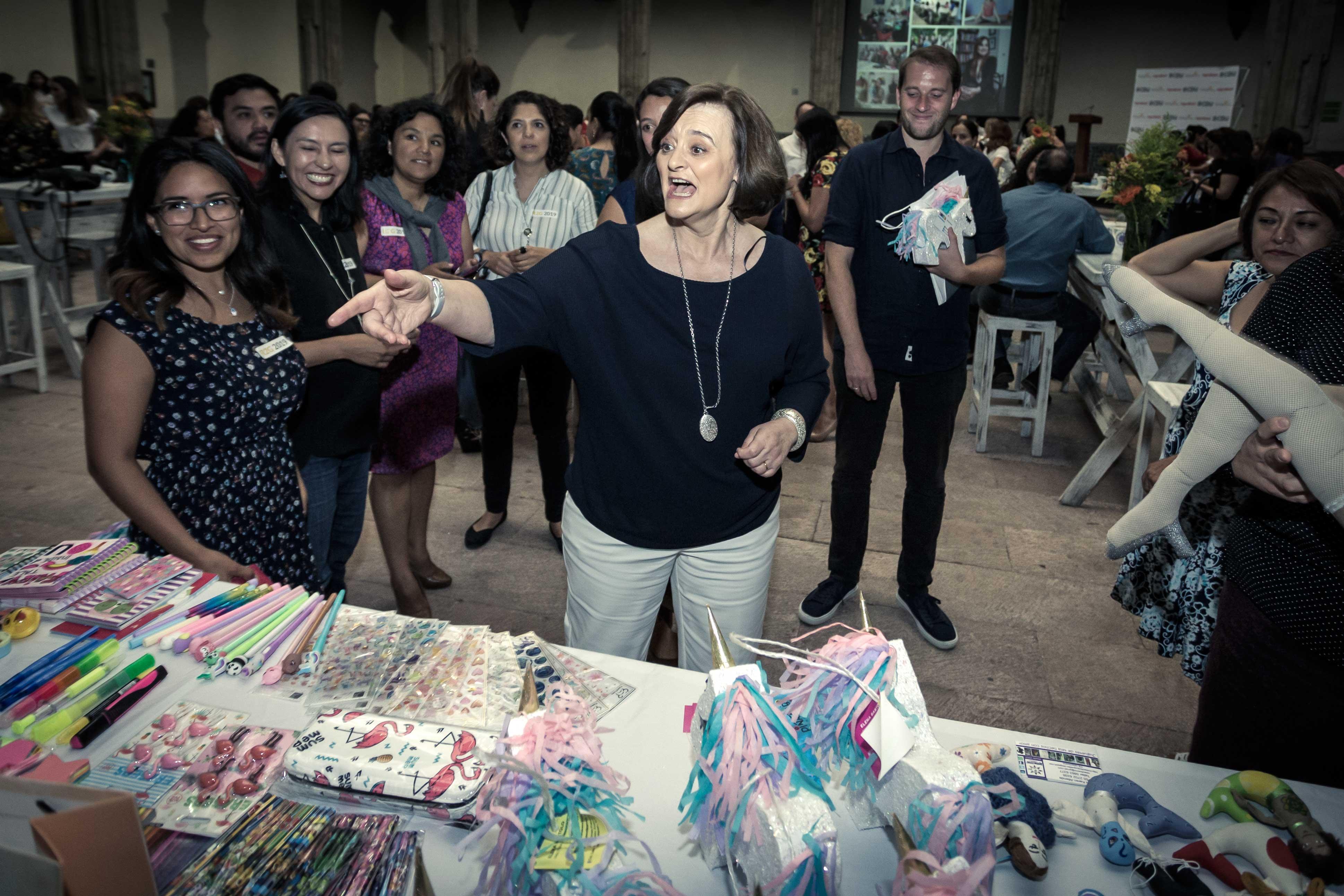 Cherie Blair durante la inauguración de la segunda edición del programa Road to Growth Mexico en elMuseo Interactivo de Economía | Foto: Alfredo Pelcastre/Fortune en Español