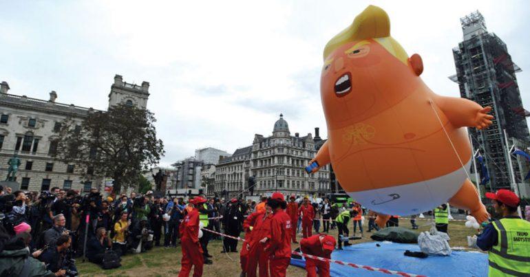 La historia detrás del globo Baby Trump | Foto: Getty Images