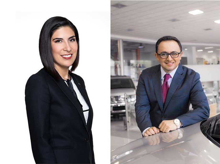 Izq. Mayra González, CEO de Nissan Mexicana hasta junio de 2019 | Der. vicepresidente de la unidad de negocios Datsun hasta junio de 2019| Foto: Nissan Mexicana