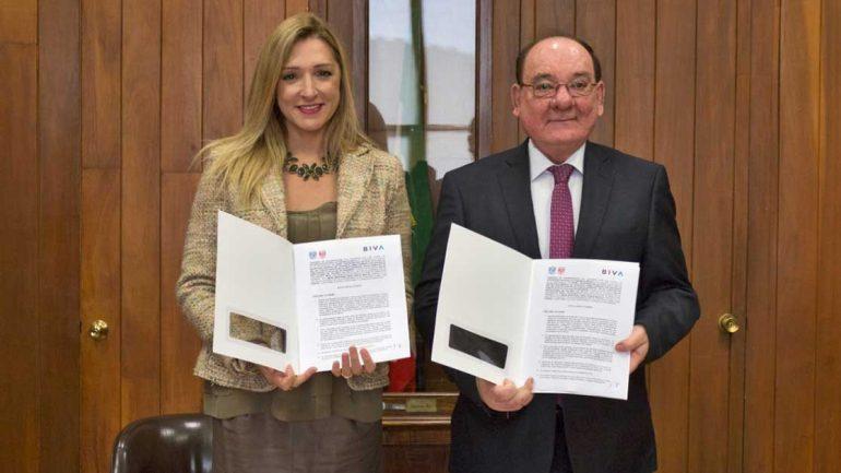 UNAM y BIVA firman convenio para promover la educación financiera   Foto: cortesía BIVA