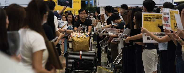 Aeropuerto de Hong Kong tras manifestación de agosto 2019 | Foto: Getty Images