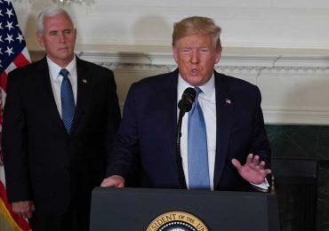 Donlad Trump durante discurso sobre los ataques en Texas y Ohio en agosto 2019 | Foto: Getty Images