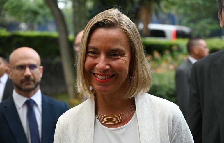 Federica Mogherini, jefa de la diplomacia europea | Foto: AFP
