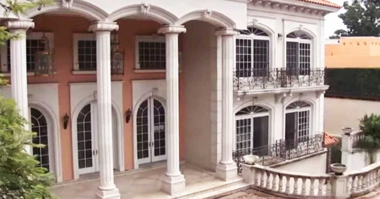 Casa de Zhenli Ye Gon | Foto: screenshot de Noticieros Televisa