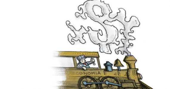 Las dos caras de la economía | Ilustración: Gerardo Terán
