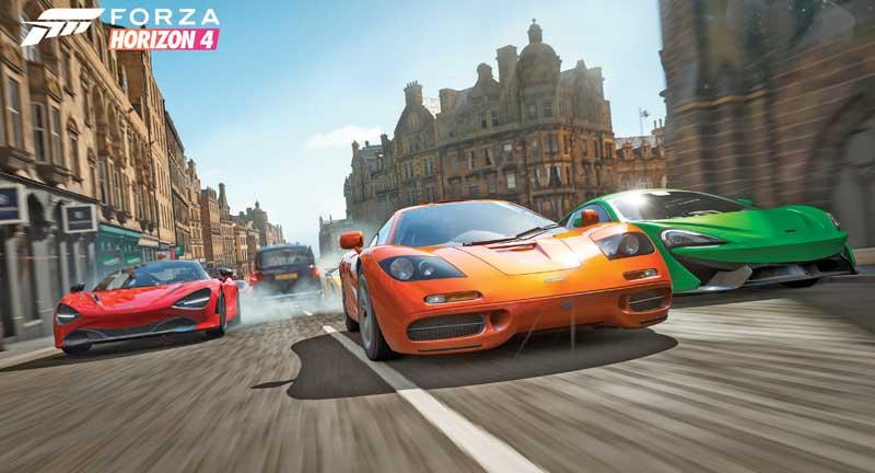 Forza Horizon 4 (una popular colección de carreras de autos). Ambos son edita- dos por Microsoft   Foto: cortesía Xbox Games Studios