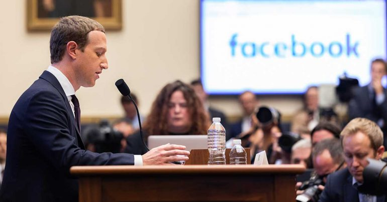 Mark Zuckerberg, CEO de Facebook, testifica ante el Comité de Servicios Financieros de la Cámara de Representantes el 23 de octubre de 2019 | Foto: Getty Images