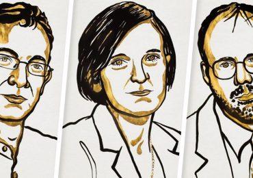 Esther Duflo,Abhijit Banerjee yMichael Kremer, ganadores del Premio Nobel de Economía 2019 | Ilustración: Premio Nobel