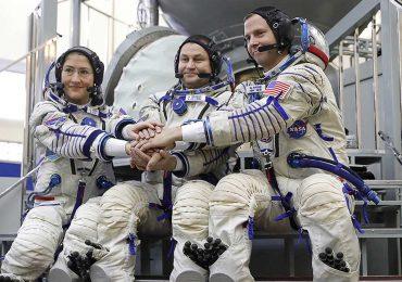 Izquierda: Christina H. Koch, centro: Alexei Ovchinin, derecha: Nick Hague | FOTO: GETTY