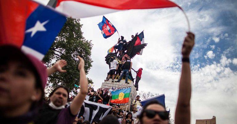 Más de un millón de personas protestó en Santiago de Chile el 29 de octubre de 2019 | Foto: Getty Images