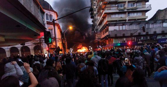Manifestaciones en Chile contra políticas gubernamentales | 21 de octubre de 2019 | Foto: Getty Images