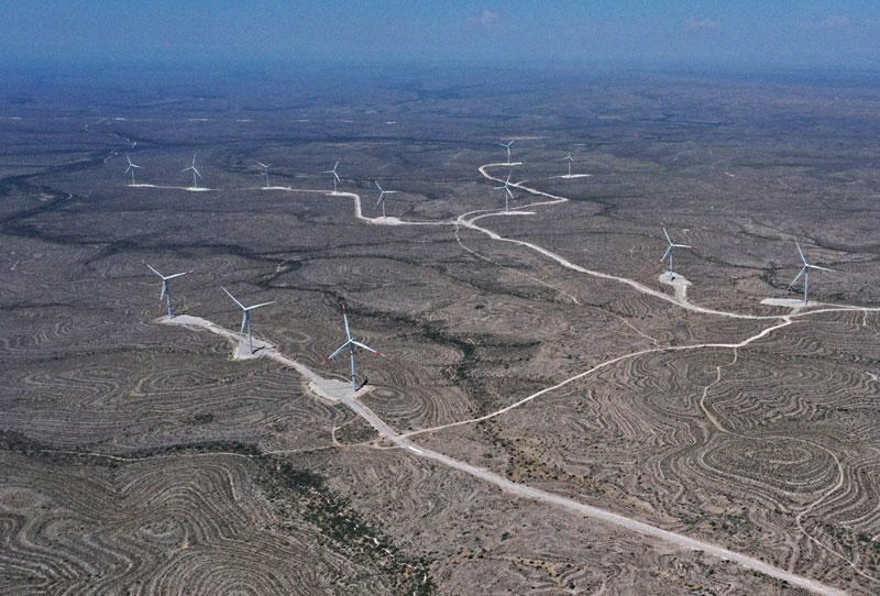 El parque Amistad I, en Acuña, Coahuila, de Grupo Enel, tiene 57 generadores. Con las fases 2,3 y 4 será el más grande del país | Foto: Cortesía Grupo Enel