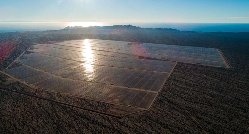 Proyecto solar fotovoltáico en Puerto Libertad, Sonora, costruido por ACCIONA, de 405 MWp. | Foto: Cortesía ACCIONA