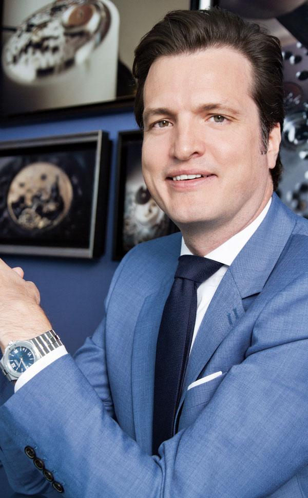 Philipp Ammann, director de Ventas Internacionales de Chopard, prefiere las piezas clásicas. | Foto: Gabriel González