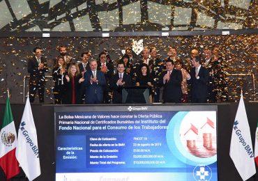 Fonacot emite $2,000 millones en la BMV en noviembre de 2019 | Foto: cortesía BMV