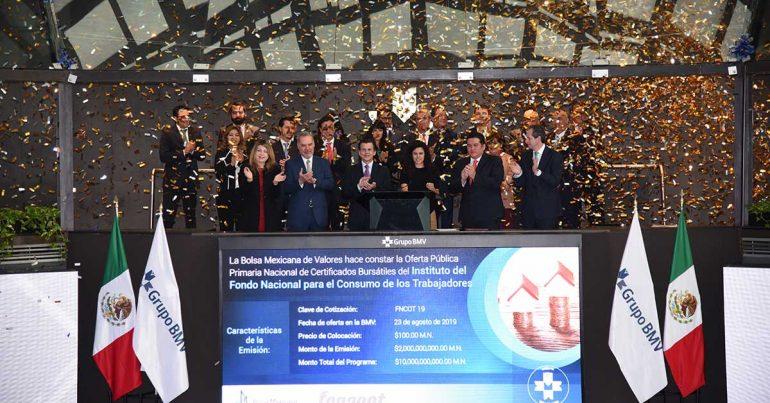 Fonacot emite $2,000 millones en la BMV en noviembre de 2019   Foto: cortesía BMV