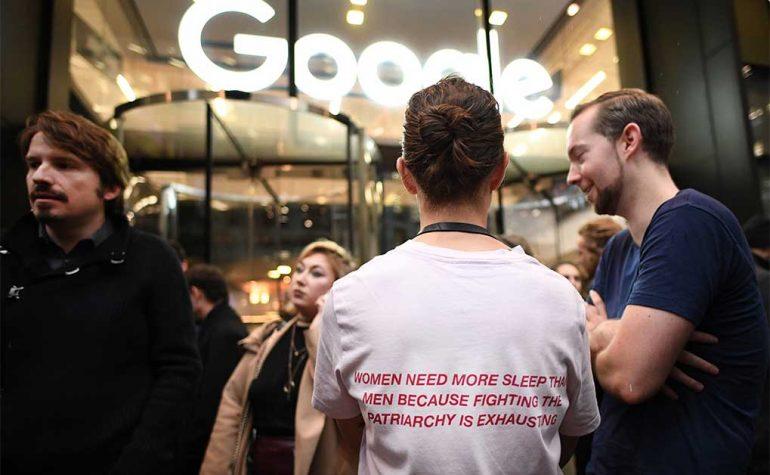 Oficinas de Google en Granary Square, Londres, donde empleados organizaron una huelga como parte de una protesta por el trato de la empresa a las mujeres | Foto: Getty Images