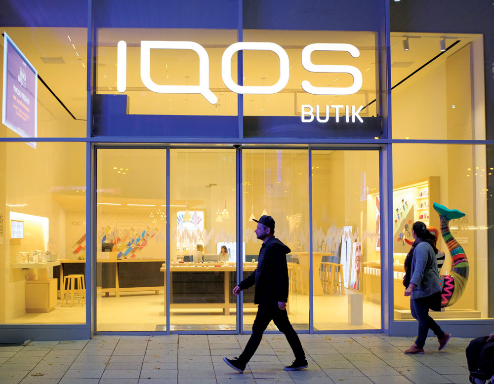 Nuevo sabor, Una tienda IQOS en Varsovia, Polonia. | Foto: Getty Images