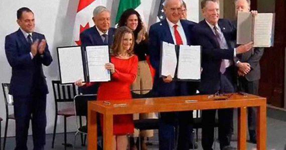 Firma de ampliación del T-MEC   Foto: Gobierno de México