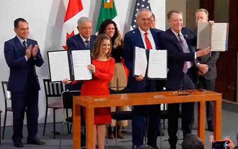 Firma de ampliación del T-MEC | Foto: Gobierno de México