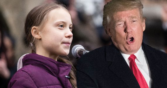 Greta Thunberg y Donald Trump | Foto: Getty Images
