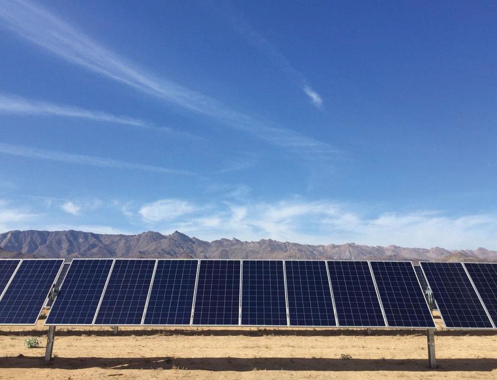 El parque Rumorosa Solar, en Baja California, cuenta con 165,510 paneles solares en 135 hectáreas. | Foto: Archivo Fortune