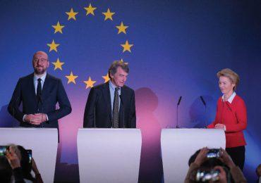Izquierda: Charles Michel; centro: David Sassoli; derecha: Ursula von der Leyen | Foto: Getty Images