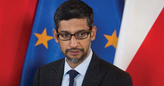 Sundar Pichai, CEO de Alphabet y Google durante el 'Central and Eastern Europe Innovation Roundtable' en Lazienki Palace, Varsovia | Foto: Getty Images