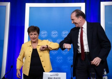 Kristalina Georgieva y David Malpass | Foto: AFP