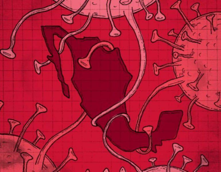 El coronavirus llegó a México |Ilustración: Gerardo Terán