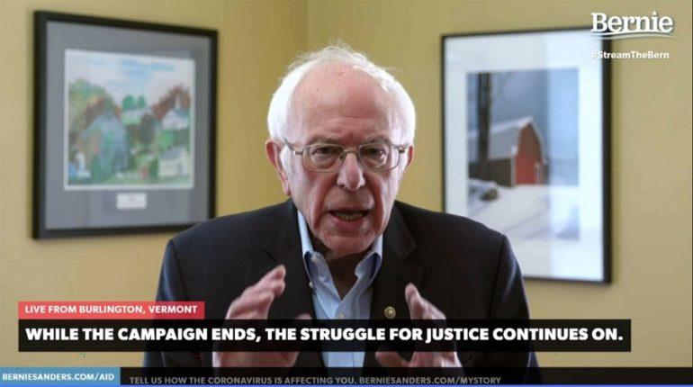 Bernie Sanders concluye que su pelea por la nominación demócrata no será exitosa. | Foto: AFP