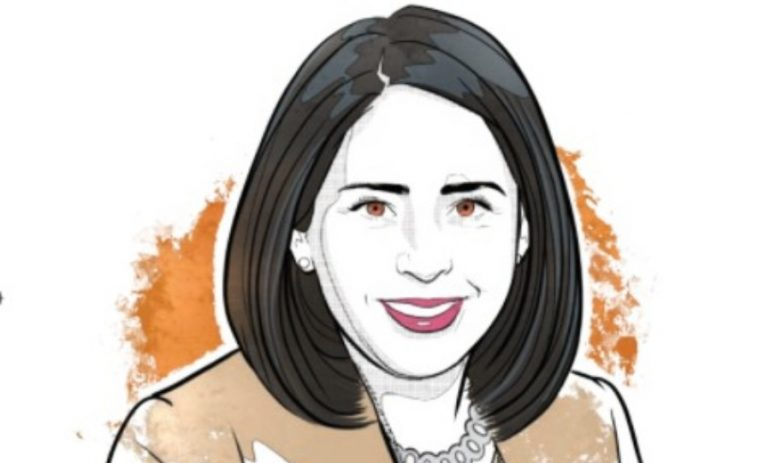 Claudia Márquez, presidenta de Chemours México   Ilustración: Alejandro Klamroth Bermúdez