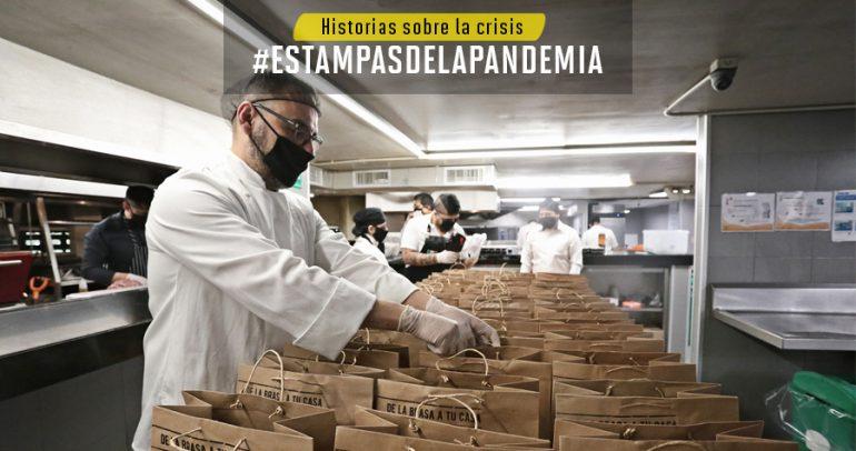 Empleados de Sonora Grill preparan la entrega de hasta 600 comidas diarias para personal médico. | Foto: Gerardo Terán