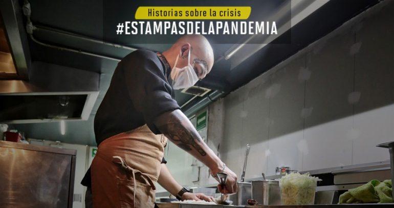 Ricardo Franco, socio fundador de Surtidora de Pescado del Centro, dice que vender burritos fue la única forma de tener algo sostenible. | Foto: Israel Hernández/Gerardo Terán